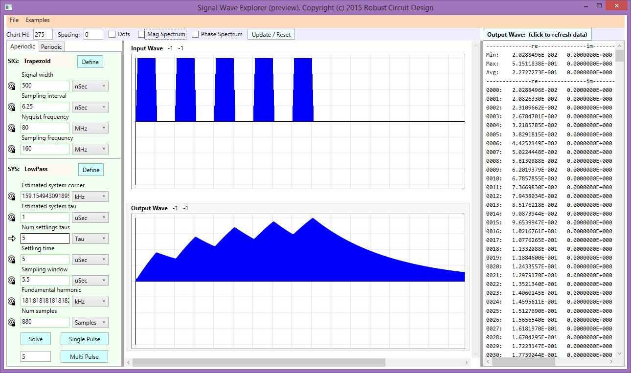 Signal Wave Explorer Main Screen