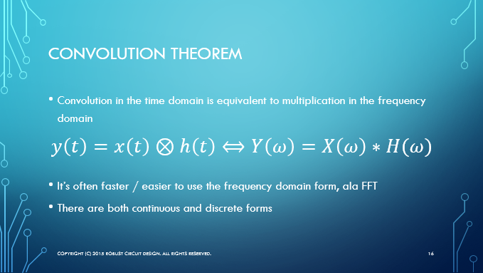Convolution theorem slide
